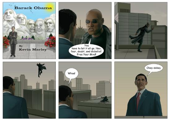 A Barack Obama Cartoon Book and Movie