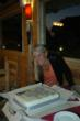 Denise with her surprise Birthday cake from the staff at Elephant Lodge
