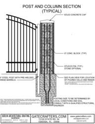 Building a column for mounting a driveway gate