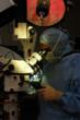 Surgeon Using Operating Microscope at Humble Surgical Hospital