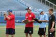 Kicking Coach Chris Husby Working With Kickers