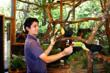 At La Paz Waterfall Gardens guests learn about the natural history of different rainforest species.