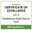 Doubletree by Hilton Denver Tech Hotel Wins Prestigious TripAdvisor Certificate of Excellence Award For 2012