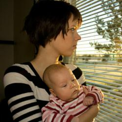 Depressed mothers affect baby's sleep