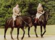Queen Elizabeth and President Reagan on horseback