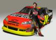 "Four-time NASCAR Cup Series champion Jeff Gordon with ""Fire Storm"" #24 DuPont Chevrolet."