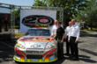 2012 DuPont NASCAR Day celebration speakers were (L-R): John McCool, president of DuPont Performance Coatings, Jeff Gordon, Sam Bass, NASCAR artist, Scott Coleman, DuPont chief marketing and sales off