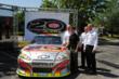2012 DuPont NASCAR Day celebration speakers were (L-R): John McCool, president of DuPont Performance Coatings, Jeff Gordon, Sam Bass, NASCAR artist, Scott Coleman, DuPont chief marketing and sales off
