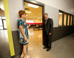 Mario and Kelly Martinez Ribbon Cutting at the ICAN Lon E. Hoeye Youth Center Technology Classroom