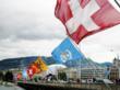 International Flags near Vitafoods Europe 2012