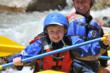 Kids rafting in Colorado