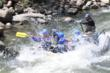 Low water rafting through Pine Creek on the Arkansas River.