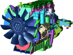Fully detailed CAD engine wrapped with PowerDELTA.