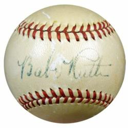 Authentic memorabilia, such as this Grade 5 autographed Babe Ruth ball, can be found at sportsfanplayground.com.