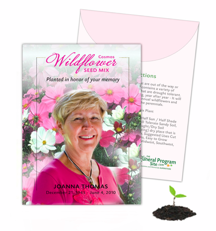 Flower Seed Packets for Funeral