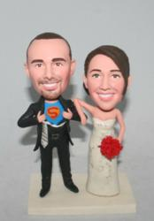 superman wedding cake toppers