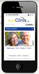 euroClinix mobile site