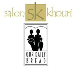 Fairfax hair salon, Salon Khouri, once again partners with Fairfax non-profit, Our Daily Bread