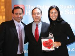 Dr. Kevin Accola with Adam Pick and Monica Cohen (Heart Valve Summit)