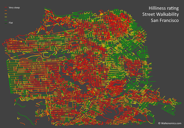 The Most Walkable Streets in San Francisco Arent Always the Ones