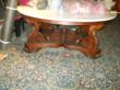 Marble top Victorian center table