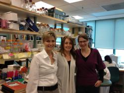 Pictured, from left to right: Dr. Sandra Dunn, Kristen Reipas and Dr. Anna Stratford