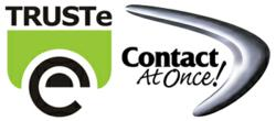 Contact At Once! TRUSTe certified dealer chat