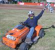 Bob Newman, a USLMRA Western Regional Director, with checkered flag.