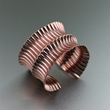 Fold Formed Corrugated Copper Cuff by San Francisco jewelry designer John S Brana