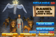 "See what happens to Daniel when he is thrown in to the lionis den by King Darius in BibleKids 3D's new digital book ""Daniel and the Lion's Den"""