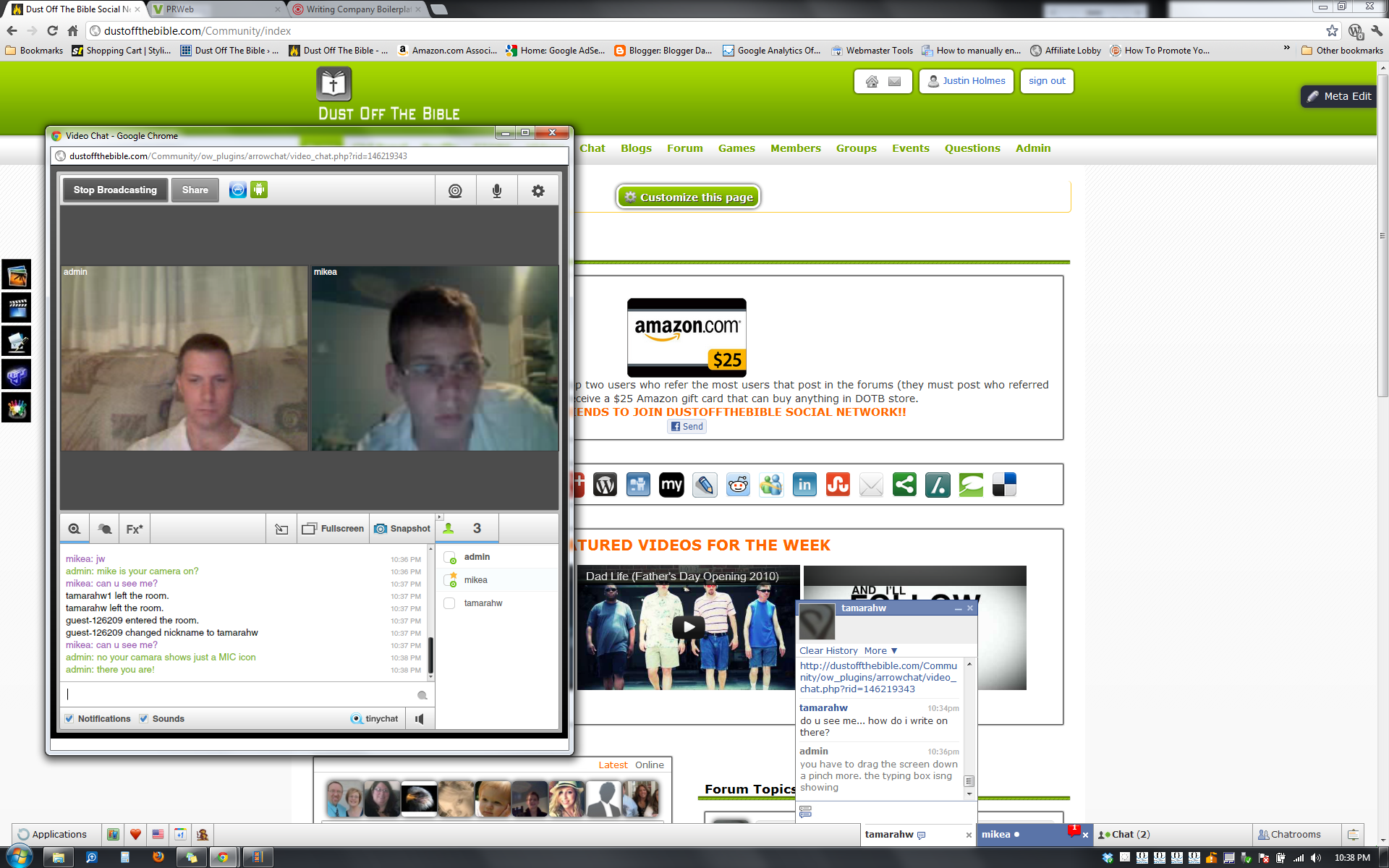 Video chat with friends Video Chat. Demo of the video chatting feature