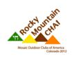 "Rocky Mountain Chai (Pronounced ""Rocky Mountain High"") logo for Mosaic 2012 International Event"