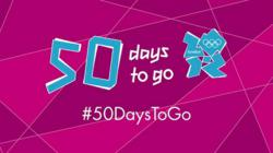 London 2012 celebrates 50 days to go with 50 ways to 'Join In' with the Games