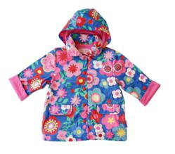 Toby Tiger Blue Multiflower raincoat