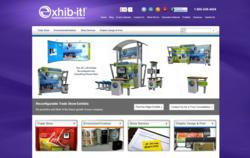 Screenshot of EXHIB-IT!'s New Trade Show Marketing Website
