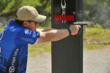 Team FNH USA Shooter and Senior Vice President for FNH USA Commercial Sales, Ken Pfau, shoots the prototype FN FNS-9 Competition at the 2012 NRA Bianchi Cup.