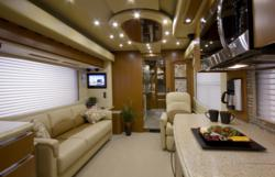 Newell Coach's new VIP 4500 motor coach offers more space, luxury and comfort than a limousine can provide.