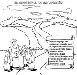 The Roman Road Coloring Card Shares the Gospel on Mission Trips