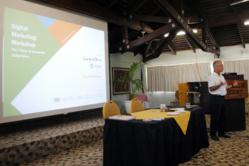 Rob Shortland presents Hotel Link Solutions in the Cook Islands