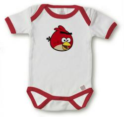 gI 79142 angry birds onesie red Kiditude Expands Rock Baby Clothes Line with New Gaga Parody and Angry Birds Funny Baby Clothes