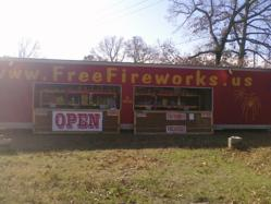 One of Jon's FreeFireworks.us locations