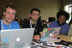 Attendees enjoying Hack The Midwest - a Hackathon in Kansas City