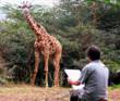 Artist Gregory Wellman demonstrates his techniques on location in Africa