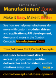 Enter the Control Concepts Manufacturers' Zone
