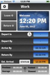 """Daily Commute"" iPhone Application"