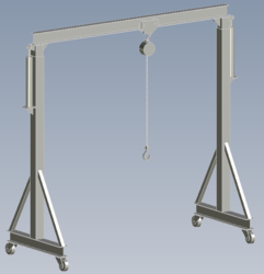 gantry crane plans, portable gantry crane