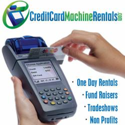Wireless credit card machine and company logo