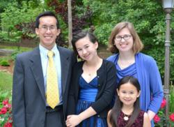 Dennis Kuo with daughter Rebecca and family