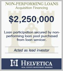 Loan Secured by sub-performing residential loans