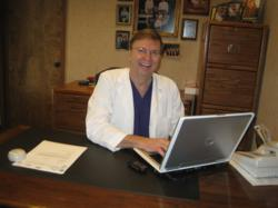 Dr. Rabalais in his dental office.